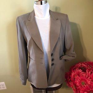 EUC Taupe 2-Piece Silk pant suit Size 10